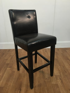 DARK BROWN LEATHER HIGH CHAIR