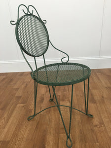 GREEN WROT IRON GARDEN CHAIR