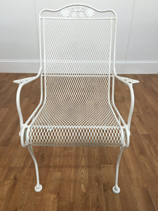 WHITE METAL GARDEN CHAIR