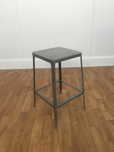 METAL SQUARE STOOL