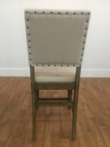 OFF WHITE WOODEN ARMLESS CHAIR