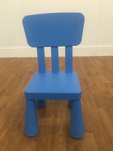 CHILDRENS PLASTIC CHAIR (BLUE OR PINK)