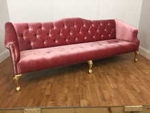 VALOUR COUCH WITH GOLD LEGS