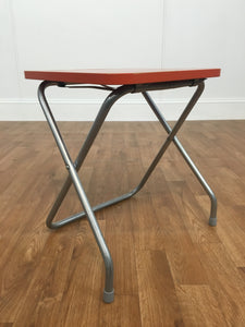 ORANGE FOLDING ACCENT TABLE