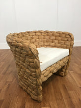 BAMBOO ACCENT CHAIR WITH CLOTH CUSHION