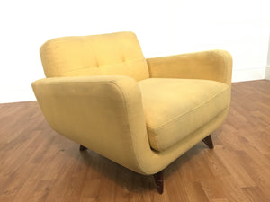 VINTAGE YELLOW CLOTH CHAIR