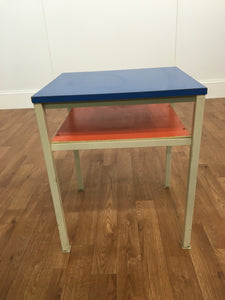 BLUE AND ORGANGE ACCENT TABLE