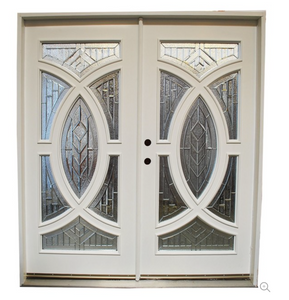 EXTERIOR DOUBLE DOORS WITH CURVED INSETS