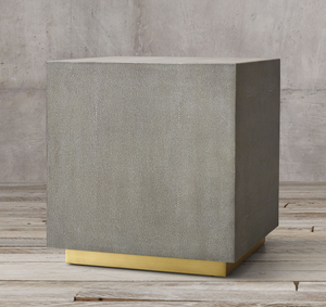 GRAYDON SHAGREEN PLINTH SIDE TABLE