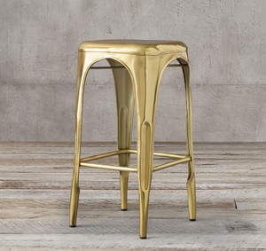 REMY POLISHED BRASS STOOL