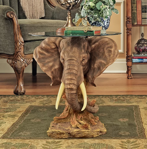 TROPHY ELEPHANT SIDE TABLE