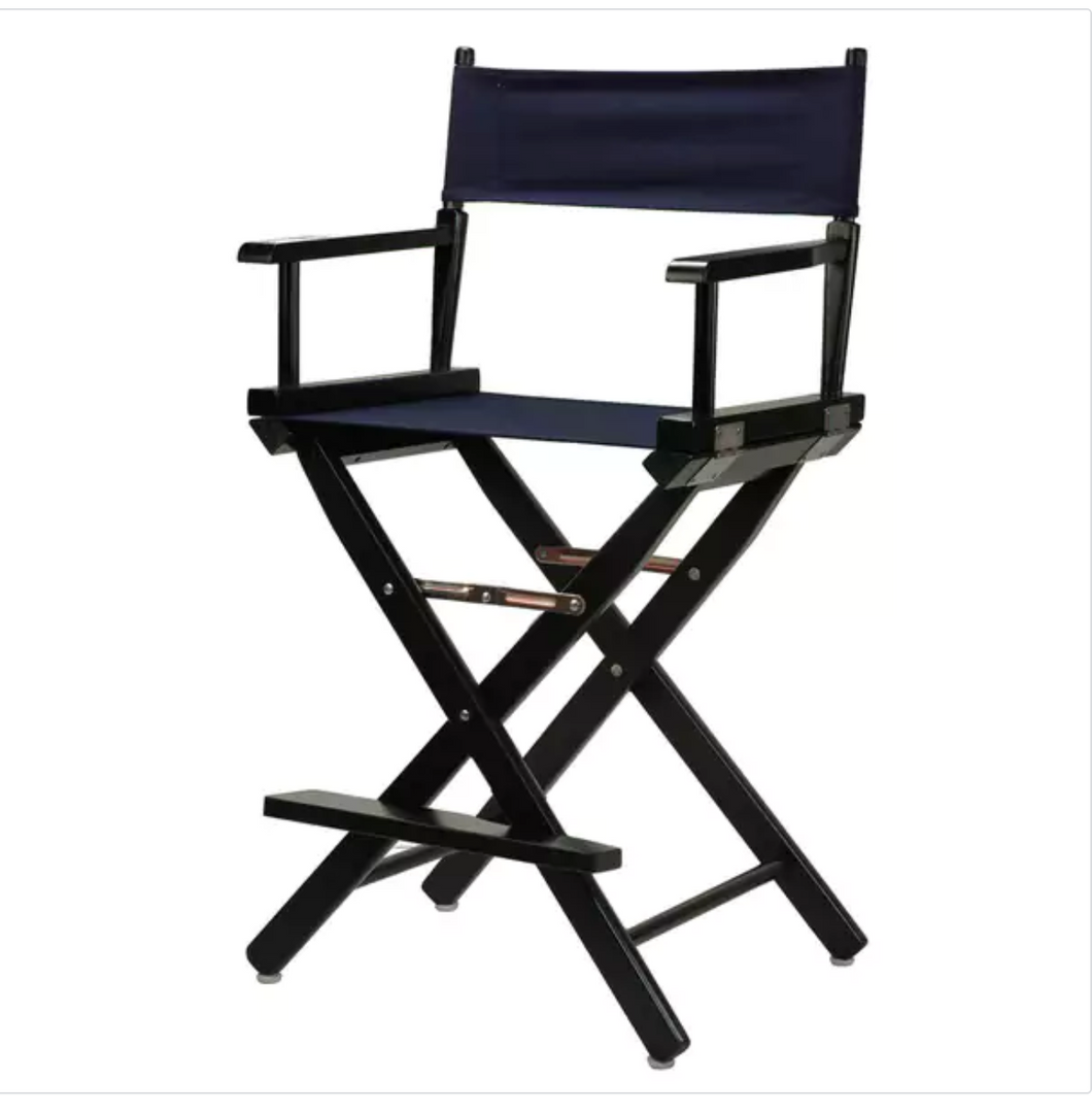 DIRECTOR CHAIR - BLACK BAR HEIGHT
