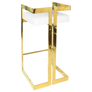 GOLD BOX FRAME BAR STOOL