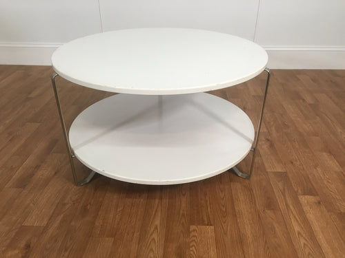 2 TIER WHITE ROAD MAGAZINE TABLE