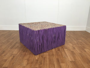 PURPLE SQUARE TWIG TABLE
