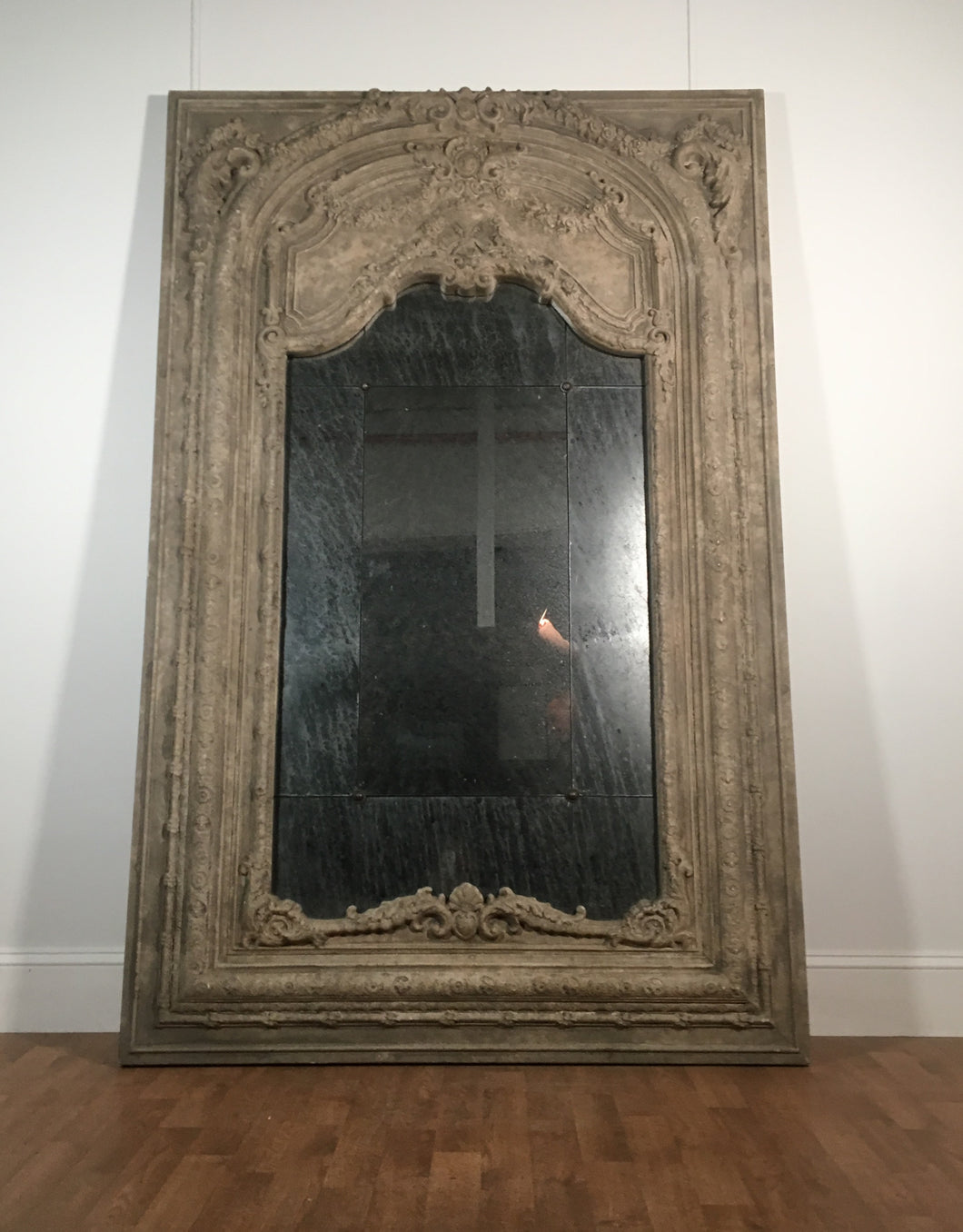 ANTIQUE STONE EFFECT MIRROR/LIMITED REFLECTIVENESS