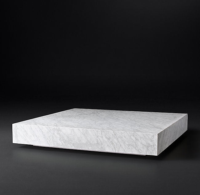 LOW MARBLE PLINTH COFFEE TABLE