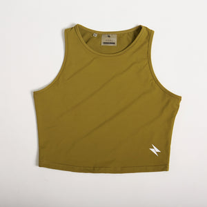 Basic Crop Top - Khaki