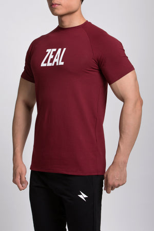 Zeal Fit Tee - Red - ZEAL