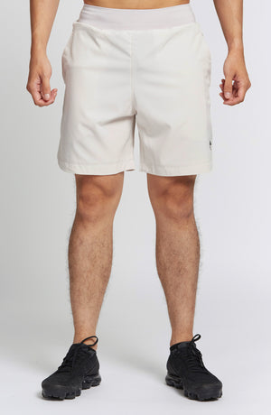Athletic Short - Ivory White