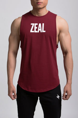 Zeal Fit Tank - Red - ZEAL