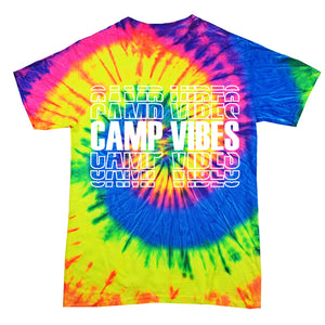 Camp Vibes Shirt - Neon Tie Dye