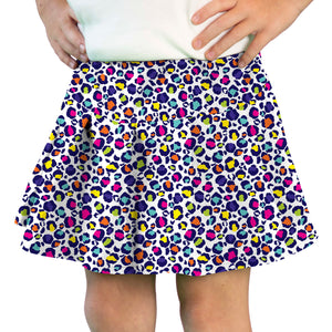 Tennis Skirt in Leopard Rainbow