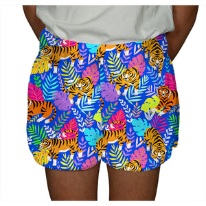 Fuzzy Shorts Tiger in Royal