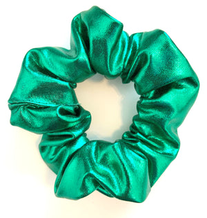 Scrunchie in Metallic Green