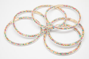 Fall Confetti Bangles Waterproof for Girls - Jewelry