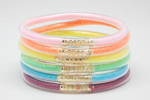 Rainbow Bangles Waterproof for Girls - Jewelry