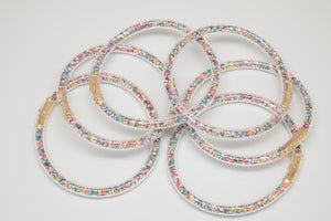 Pastel Confetti Bangles Waterproof for Girls - Jewelry