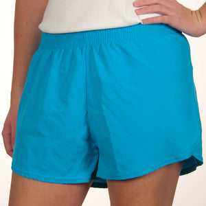 Steph Shorts in Solid Turquoise