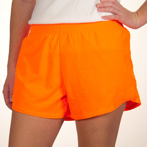 Steph Shorts in Solid Neon Orange