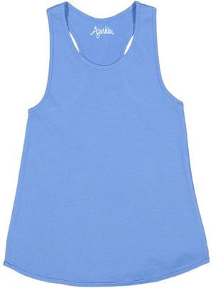 Tank Top with Racer Back in Carolina Blue shirt