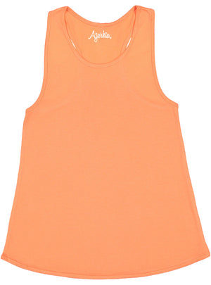 Tank Top with Racer Back in Light Orange shirt