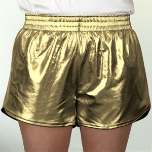 Steph Shorts in Metallic Gold