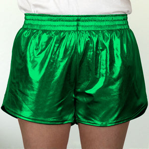 Steph Shorts in Metallic Green