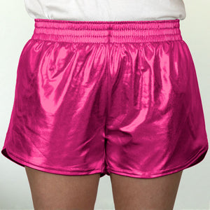 Steph Shorts in Metallic Hot Pink