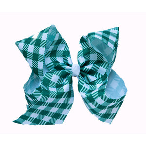 Bow in Gingham Green
