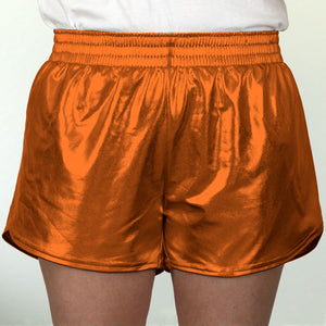 Steph Shorts in Metallic Orange