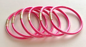 Hot Pink Bangles Waterproof for Girls