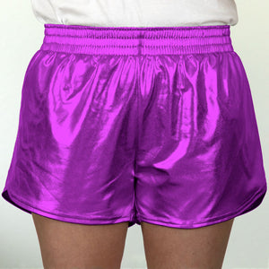 Steph Shorts in Metallic Purple