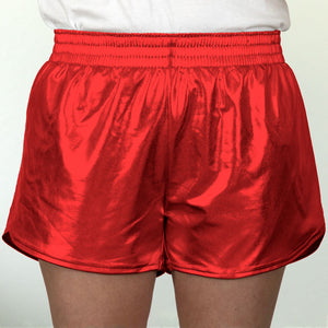 Steph Shorts in Metallic Red