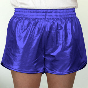 Steph Shorts in Metallic Royal Blue