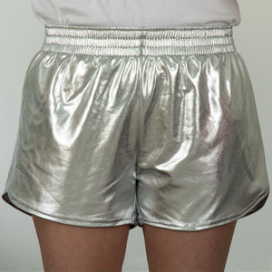 Steph Shorts in Metallic Silver