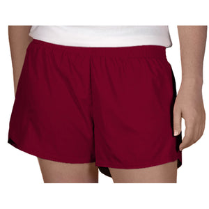Steph Shorts in Solid Maroon
