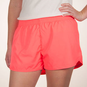 Steph Shorts in Solid Neon Pink