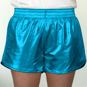 Steph Shorts in Metallic Turquoise