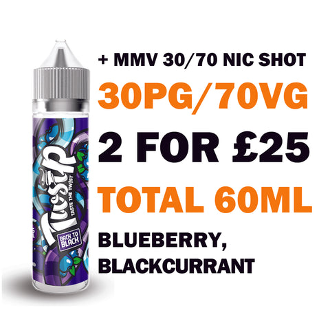 Back to Black 50ml Shortfill | Twstr - Any 2 for £25